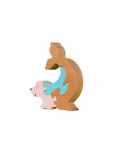 puzzle en bois - puzzle phoque